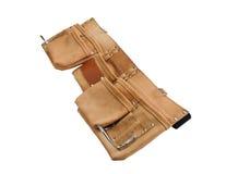 Une ceinture en cuir de travailleurs de la construction vides Photographie stock