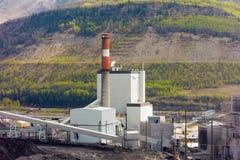 Une centrale à charbon dans le Canada du nord photos libres de droits