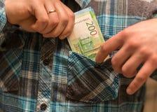Une certaine devise russe, y compris les nouvelles 200 et 2000 factures de rouble Image libre de droits