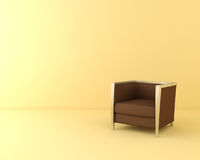 Une chaise brune Photos stock
