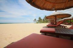Une chaise de plage Photo libre de droits