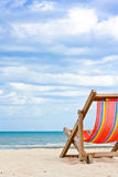 Chaise de plage Images libres de droits