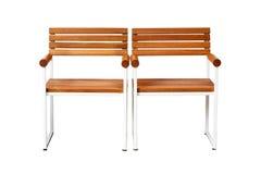 Une chaise en bois Photographie stock