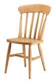Une chaise traditionnelle de cuisine de pin photos libres de droits