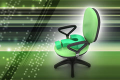 Une chaise vide avec le point d'interrogation Photographie stock