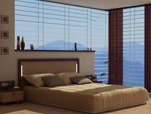 Une chambre à coucher avec une vue Photos stock