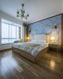 Une chambre ? coucher dans une famille moderne photos stock