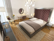 Une chambre d'hôtel de luxe dans l'art déco Photo stock