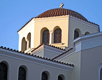 Une chapelle grecque Photo stock