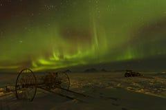 Une charrue sous les cieux verts Image libre de droits