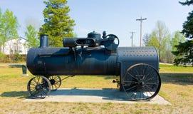 Une chaudière à vapeur mobile sur l'affichage en lac de watson Images libres de droits