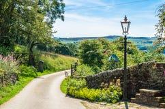 Une chaussée dans la campagne anglaise Photo stock