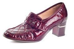 Une chaussure de rouge de vin Images stock