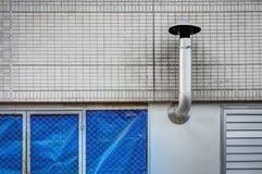 Une cheminée fournit la ventilation Photos stock