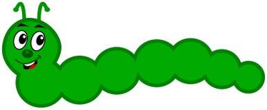 Une chenille verte Photographie stock