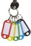 Une clé avec cinq étiquettes Image libre de droits