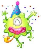 Une célébration verte borgne de monstre Photo stock
