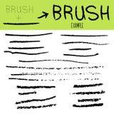 Une collection de brosse peinte à la main abstraite d'isolement sale noire frotte la bannière pour créer vos textures Vecteur illustration libre de droits