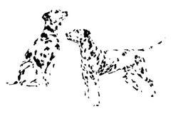 Une collection de chiens de race de croquis Dessins d'isolement de main Concept animal Photographie stock libre de droits