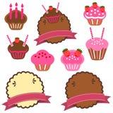 Une collection de gâteau de pâtisserie Photos libres de droits