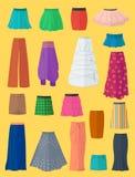 Une collection diverse de jupes illustration de vecteur