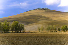 Une colline manicured en Toscane Images libres de droits