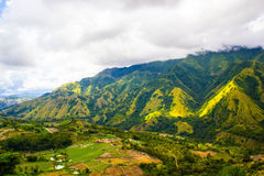 Une colline sur la vallée d'Enrekang images libres de droits