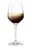 Rouge, cerise, et vin blanc dans un seul verre Photo libre de droits