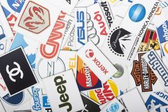 Une compilation des chaînes de magasins de vente au détail importantes des USA Photos stock