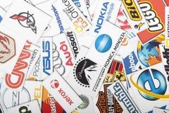 Une compilation des chaînes de magasins de vente au détail importantes des USA Image libre de droits