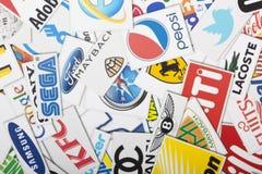 Une compilation des chaînes de magasins de vente au détail importantes des USA Photos libres de droits
