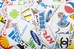 Une compilation des chaînes de magasins de vente au détail importantes des USA Image stock