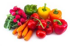 Une composition colorée de légumes Photographie stock