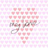 Une composition d'un grand coeur fait en peu ceux avec une inscription romantique au sujet de l'amour illustration libre de droits