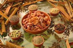 Une composition des épices Photos stock