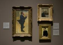Une composition des peintures par Hilaire-Germain-Edgar Degas dans le National Gallery à Londres photos libres de droits