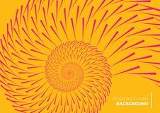Une conception abstraite orange de couverture formant un modèle en spirale illustration stock