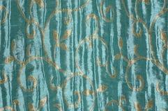 Une conception bleue de tissu Photographie stock libre de droits