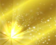 Une conception d'or de couleur avec un éclat et des rayons Photos libres de droits
