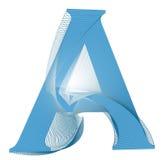 Une conception de lettre Image stock