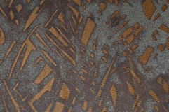 Une conception de tissu colorée par cuivre Photos libres de droits