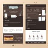 Une conception moderne de calibre de site Web de page avec illustration libre de droits