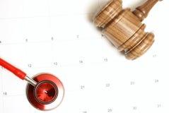 La médecine rencontre la loi Images libres de droits