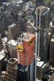 Une construction de vue à Manhattan Photo libre de droits