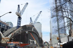 Une construction de World Trade Center Images libres de droits