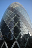 Une construction en verre à Londres Photographie stock
