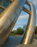 Une coordonnée architecturale de l'académie nationale des arts du spectacle construisant Port-d'Espagne, Trinidad-et-Tobago au co Image stock