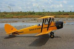 Une copie de l'avion modèle anglais de mite de Tiger Images libres de droits