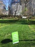 Une correction d'herbe est fermée pour la saison Image libre de droits