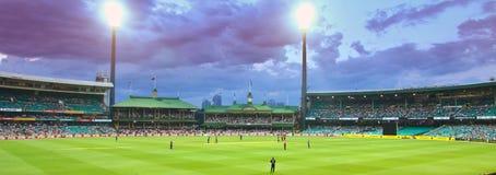 Une correspondance internationale de cricket de jour entre Austra Photos libres de droits